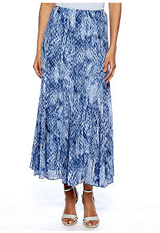 Ruby Rd Petite Blue Horizon Snake Print Skirt