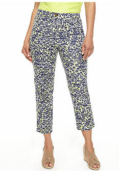 Ruby Rd Citrus Splash Printed Silky Canvas Capri