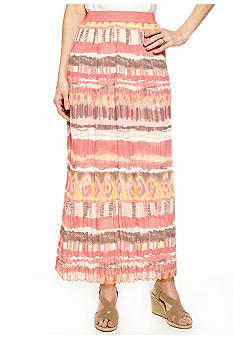 Ruby Rd Santa Fe Long Pleat Skirt
