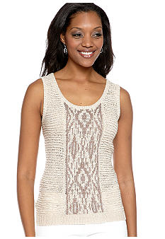 Ruby Rd Santa Fe Jacquard Sleeveless Shell