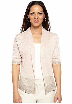 Ruby Rd Santa Fe Shawl Collar Cardigan