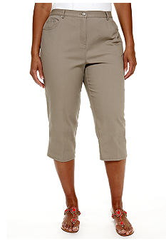 Ruby Rd Plus Size Santa Fe Canvas Capri