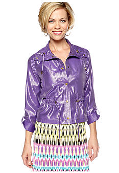 Ruby Rd Tropical Paradise Snap Front Jacket