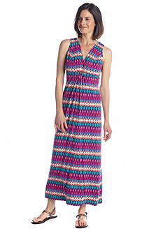 Ruby Rd Batik Chic Embellished Tribal Maxi Dress