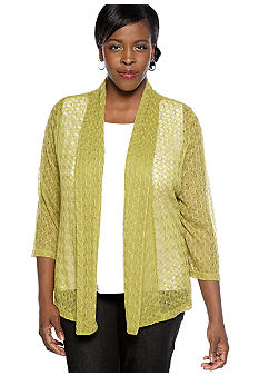Ruby Rd Plus Size Must Have Zig Zag Shawl Cardigan Sweater