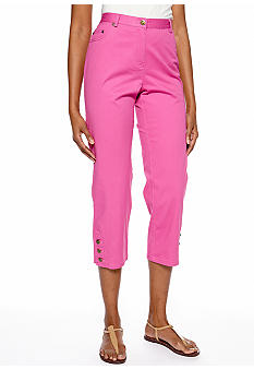 Ruby Rd Favorite Three Button Hem Capri