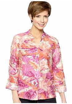 Ruby Rd Favorite Fresco Burnout Top