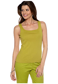 Ruby Rd Petite Sleeveless Knit Tank Top