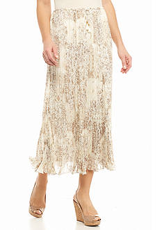 Ruby Rd Keep It Neutral Pleated Maxi Skirt