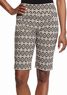 Ruby Rd To A Tee Diamond Print Tech Shorts