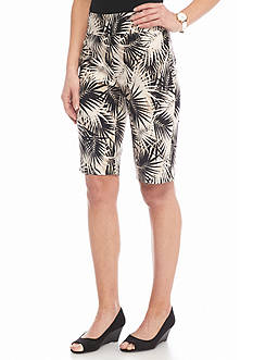 Ruby Rd Petite To A Tee Printed Tech Shorts