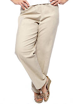 Ruby Rd Plus Size Sun Sational Flat Front Pant