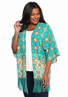 Ruby Rd Plus Size Sierra Sunset Printed Kimono
