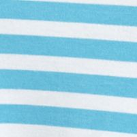 Ruby Rd Women Sale: Waterfall Blue/White Ruby Rd Jungle Gym Striped French Terry Top