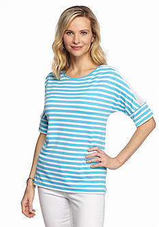 Ruby Rd Jungle Gym Striped French Terry Top