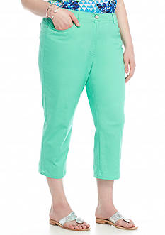 Ruby Rd Plus Size Keeping It Cool Colored Capris