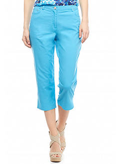 Ruby Rd Petite Keeping It Cool Colored Capris