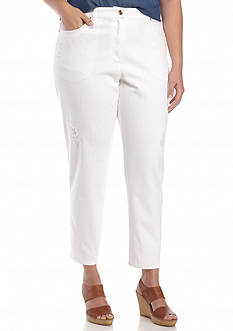 Ruby Rd Plus Size Summer Solstice Ankle Pants