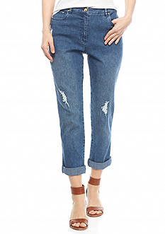 Ruby Rd Petite Summer Solstice Denim Ankle Pants