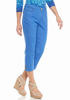 Ruby Rd Petite Summer Solstice Embellished Denim Capris