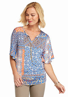 Ruby Rd Petite Summer Solstice Patchwork Kimono Top