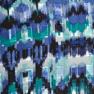 Ruby Rd Women Sale: Cobalt Multi Ruby Rd Prints Please Metallic Jacquard Tunic Top