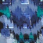 Petite Blouses: Cobalt Multi Ruby Rd Petite Prints Please Chiffon Tunic