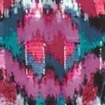 Petite Blouses: Punch Multi Ruby Rd Petite Prints Please Chiffon Tunic