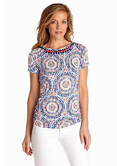 Ruby Rd Must Haves Collection Embellished Aztec Medallion Print