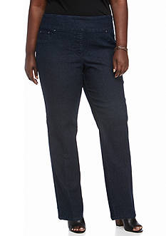 Ruby Rd Plus Size Pull-On Denim Pants