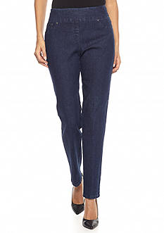 Ruby Rd Petite Pull On Jean Pants
