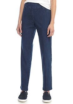 Ruby Rd Petite Pull On Denim Pants