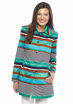 Live a Little Stripe Long Jacket