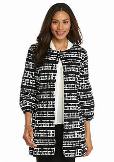 Live a Little Printed Long Jacket