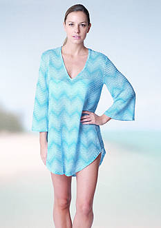 Jordan Taylor Bell Sleeve V Neck Tunic Cover Up