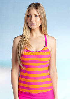 Next Lined Up Shirred Racerback Tankini