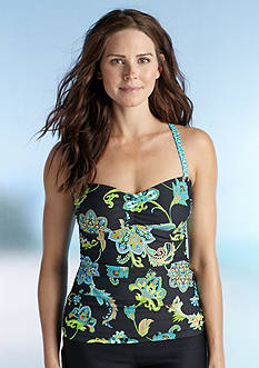 Next Harmony Paisley Shirred Tankini