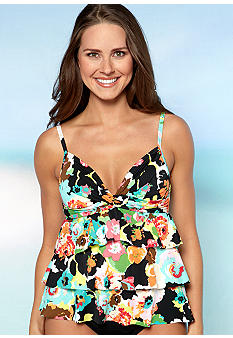 24th and Ocean Fab Floral Tiered Tankini
