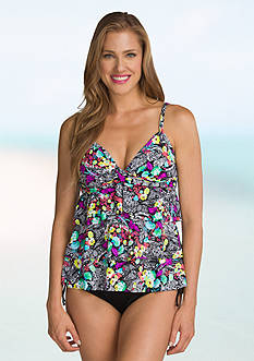 24th and Ocean Painted Paisley Tiered Tankini