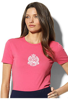 Lauren Active Keely Short-Sleeved Cotton Logo Tee