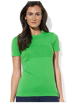 Lauren Active Short-Sleeved Crewneck Mesh Shirt