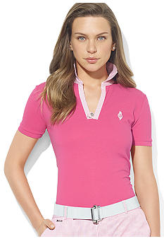 Lauren Active Open-Placket Short-Sleeve Polo
