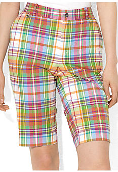 Lauren Active Slim-Fit Plaid Bermuda Short