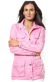 Lauren Active Mockneck Four-Pocket Windbreaker