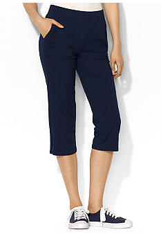 Lauren Active Cotton-Blend Cropped Pant