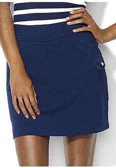 Lauren Active One-Pocket Stretch-Cotton Skort