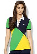 Lauren Active Color-Blocked Crested Polo