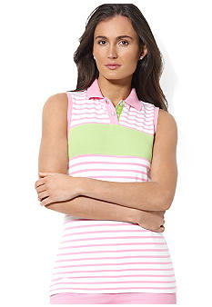 Lauren Active Striped Sleeveless Polo