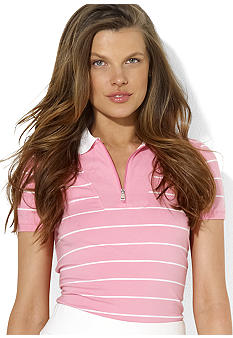 Lauren Active Striped Cotton Polo
