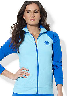 Lauren Active Color-Blocked Mockneck Jersey Jacket